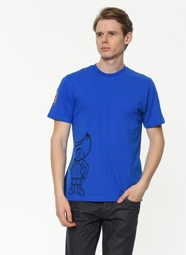 Asymmetry Tişört Mavi